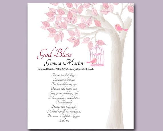 Baptism Gift from Godparents  Christening Gifts for Baby Girl