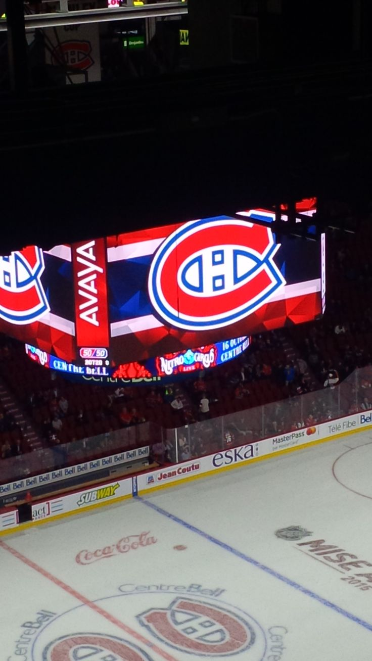 Jumbo tron du centre bell nhl ar nas patinoires for Patinoir exterieur montreal
