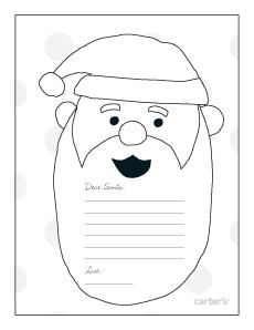 free letter to santa printable carters perfect for capturing their wish list cartersholiday the holiday shop 17 pinterest christmas santa and
