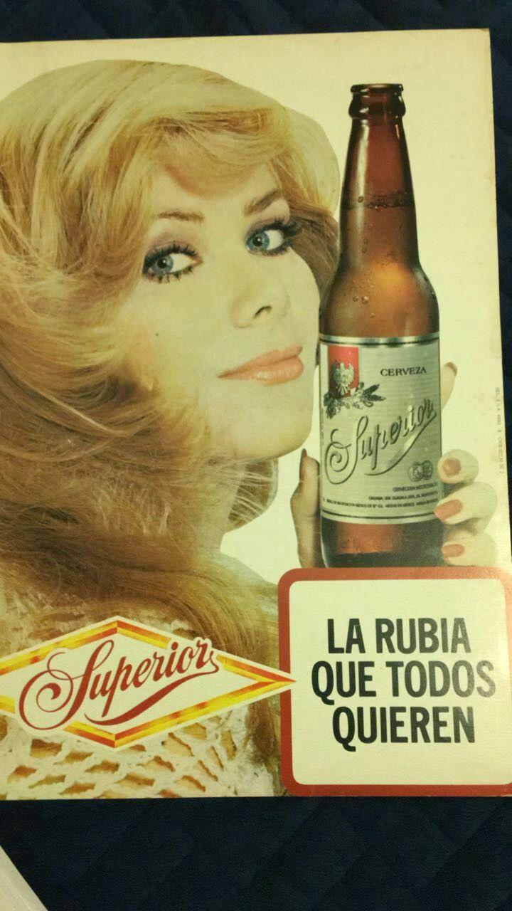 Póster de la Cerveza Superior (años 70's)... 'La Rubia que todos quieren'