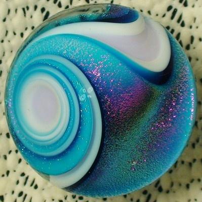 "Marble, Dichroic, Glass,  ""Princess"" (1.48inch)"