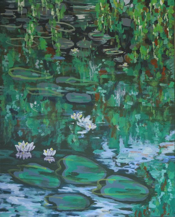 Painting - Water Lily - artist Lars Stounberg 2015