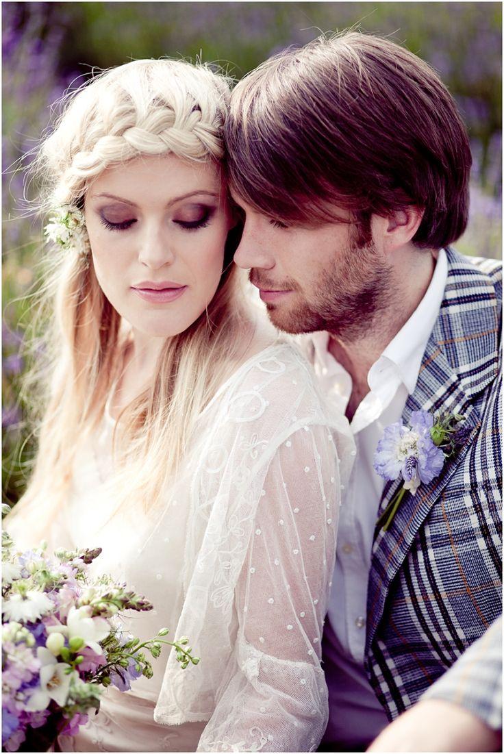 Wedding Photography | lavender fields | plait | groom | London Bride styling | Fairynuff flowers | Eddie Judd Photography