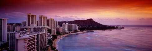 Sunset Honolulu Oahu, HI, USA Wall Decal by Panoramic Images at AllPosters.com