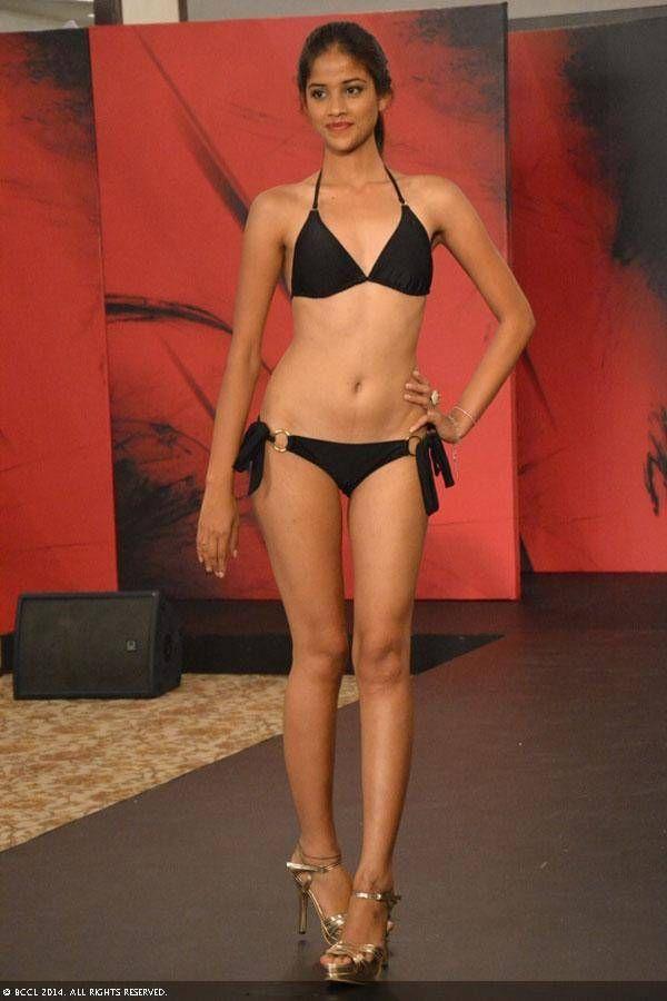 nude woman walking on ramp photo