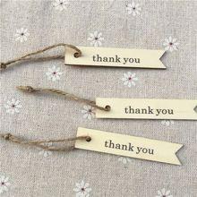 """50 """" gracias """" rústicos de madera etiquetas Chips con cordón de yute para la navidad para que deseen boda del árbol artesanías de madera Toppers adornos(China (Mainland))"""