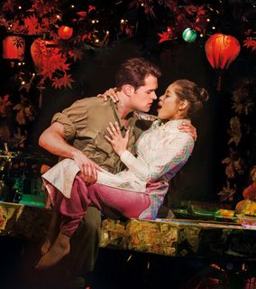 MISS SAIGON - Eva Noblezada as 'Kim' and Chris Peluso as 'Chris'. Photo credit Johan Persson and Matt - 320