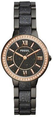 Montre pour femme : Fossil Virginia Crystal Bracelet Watch 30mm #watches #womens