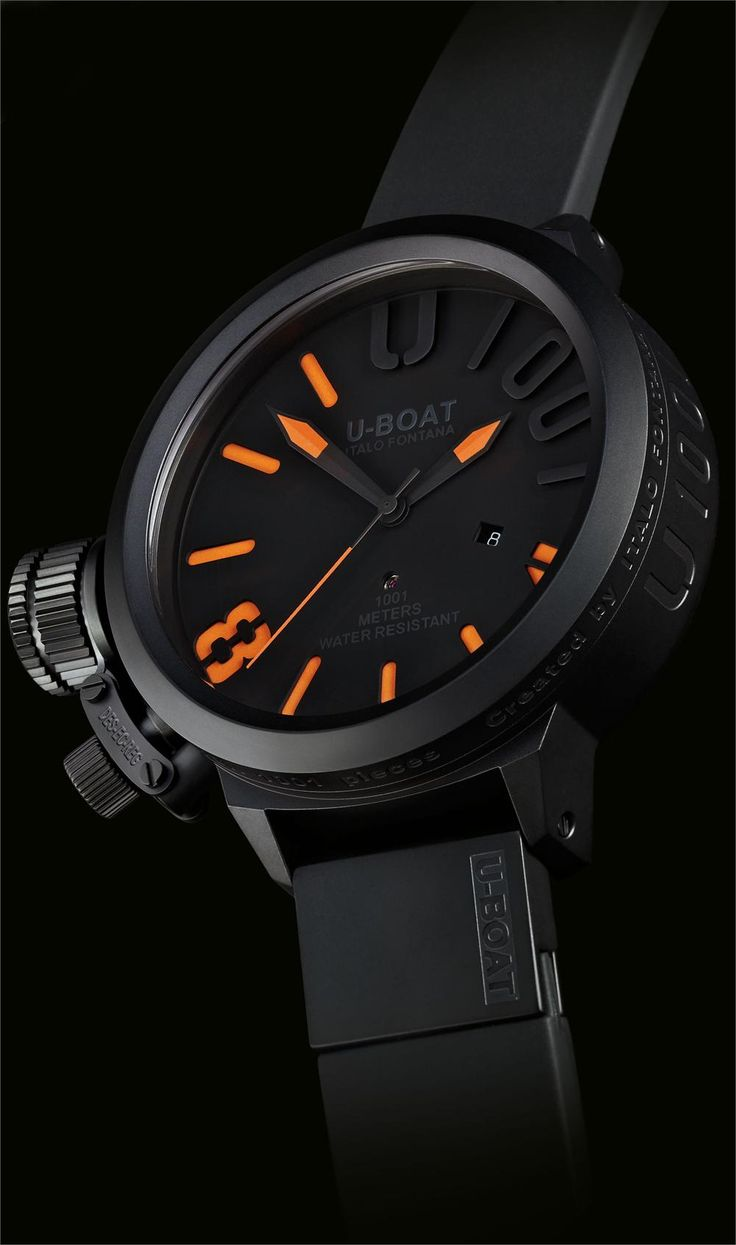 The U-Boat Titanium Blackout can withstand 1001 meters below the water's surface. $7,600