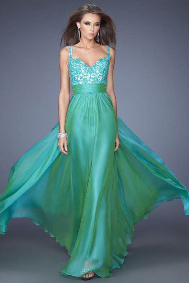 102 best Green prom dresses images on Pinterest | Party wear ...