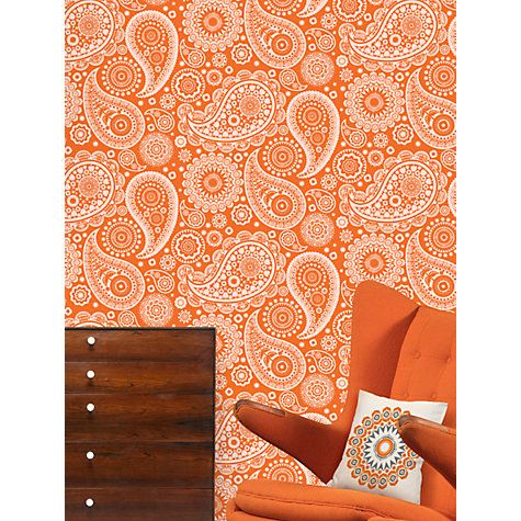 Buy Mini Moderns Paisley Crescent Wallpaper Online at johnlewis.com
