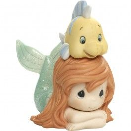 "Disney The Little Mermaid Figurine ""Life Is Better With A Good Friend"", Porcelain #171094 $50.99"