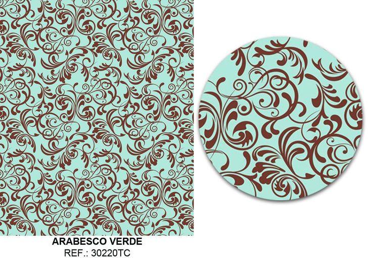 Tecido Adesivo Deco Art Arabesco Verde (45cmx1m) - no Tuti Bazar