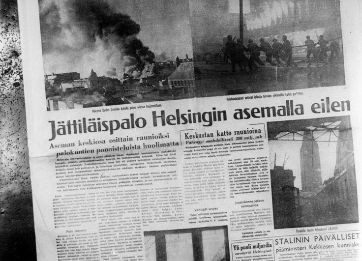Helsingin rautatieaseman palo, 6/1950 - Pelastustieto