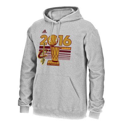 Men's Cleveland Cavaliers adidas Gray 2016 NBA Finals Champions Locker Room Hoodie