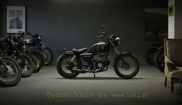 Ogar 50 ccm Bobber by Unikat Motorworks custom garage.
