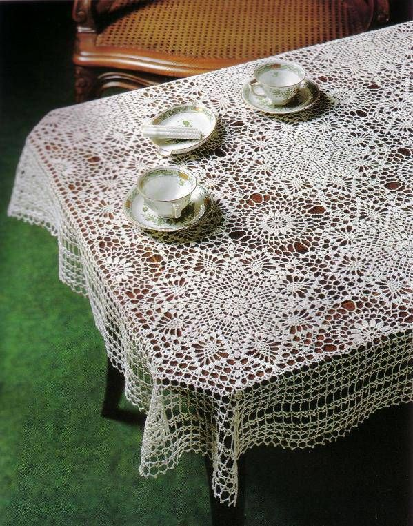 522 mejores im genes sobre crochet manteles tejidos en - Mantel de crochet ...