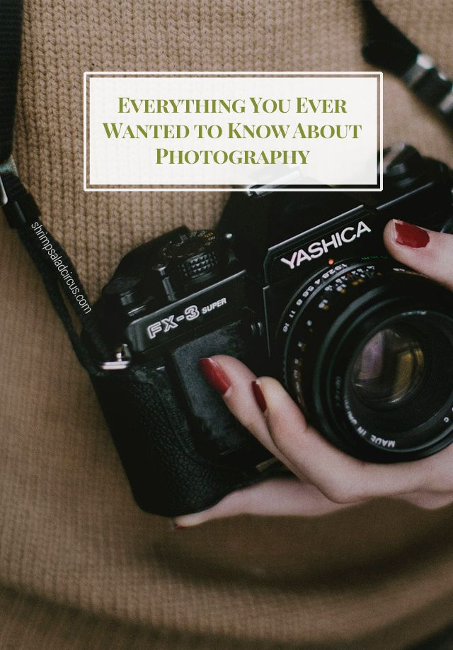 Everything you ever wanted to know about every kind of photography, from smartphone to DSLR and film! (Okay, MOSTLY everything...) :)