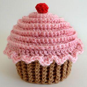 gehaakte cupcake hoed