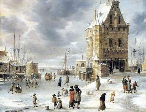 Jan van Beerstraten (1622 - 1666) 'IJsvermaak bij de hoofdtoren te Hoorn'