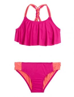 BRAIDED FLOUNCE BIKINI SWIMSUIT | GIRLS SWIMSUITS SWIMWEAR | SHOP JUSTICE