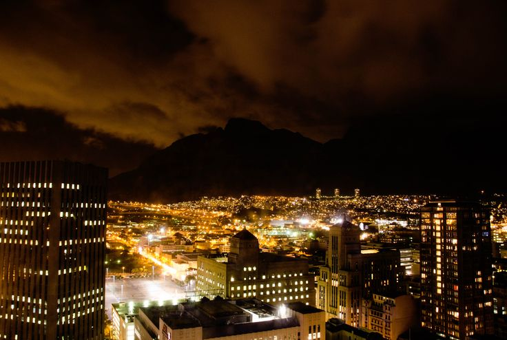 Cape Town by night, as seen from the 27th floor.