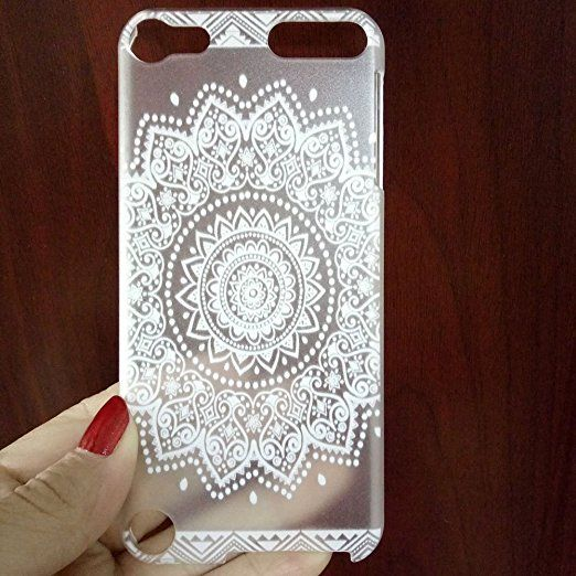 Ipod touch 5 case,touch 6 case,Plastic Case Cover for Ipod touch 5 6 Henna White Floral Paisley Flower Mandala | unavailable