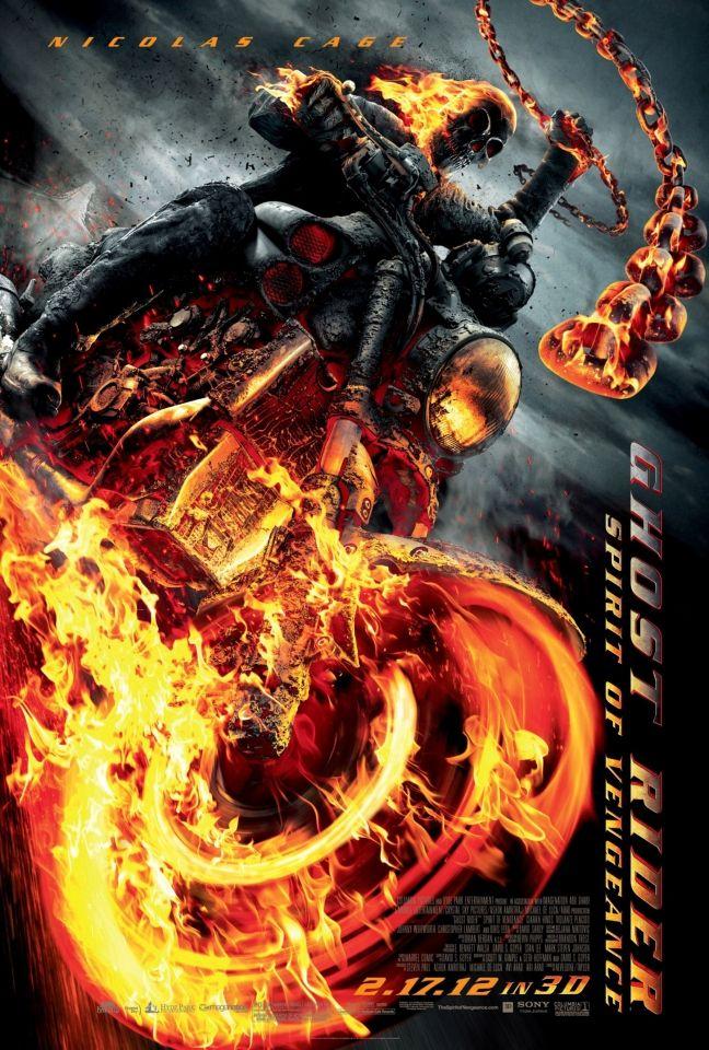 плакат фильма постер Призрачный гонщик 2 в 3D