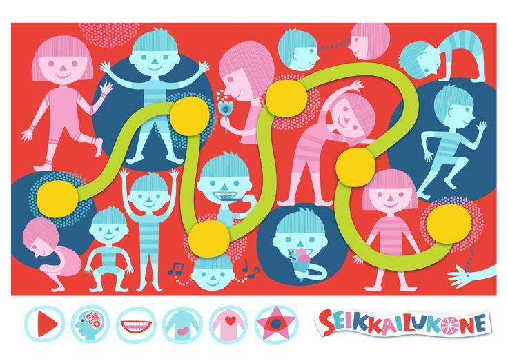 Seikkailukone | tulostettava | paperi | kartta | peli | tehtävä |  ihminen | lapset | game | map | children | kids | free printable | Pikku Kakkonen