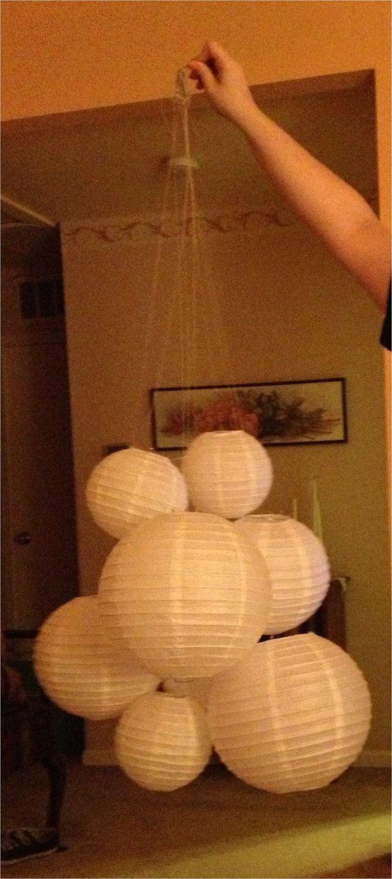25 best paper lantern chandelier ideas on pinterest paper lampshade diy lampshade and - Paper lantern chandelier ...