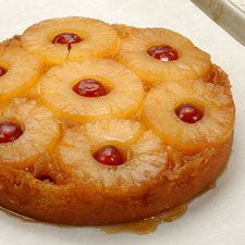 Gluten Free Pineapple Upside-Down Cake - for those of us on gluten-free diets - dig into this classic cake. Start with a Gluten-Free Yellow Cake Mix. Its moist, flavorful topping of pineapple rings and cherries (nuts optional) has made it an American favorite since 1911, when a Dole engineer invented a machine that would slice pineapple into perfect rings. This cake is wonderfully buttery/brown sugary, and VERY tasty.