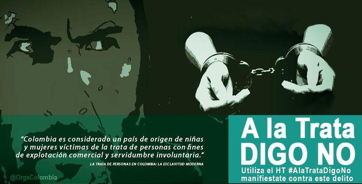 Dile NO a la trata de personas, hoy, día internacional contra este terrible practica. #ALaTrataDigoNo