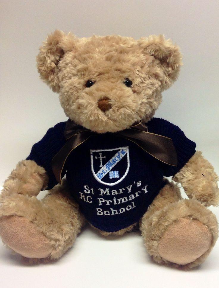 Personalised school teddy bear http://www.sayitwithbears.co.uk/bears/personalisedbears