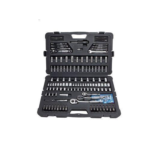 Stanley 201-Piece Set Mechanics Tool Kit Craftsman Chrome Sockets Handyman Drive #Stanley