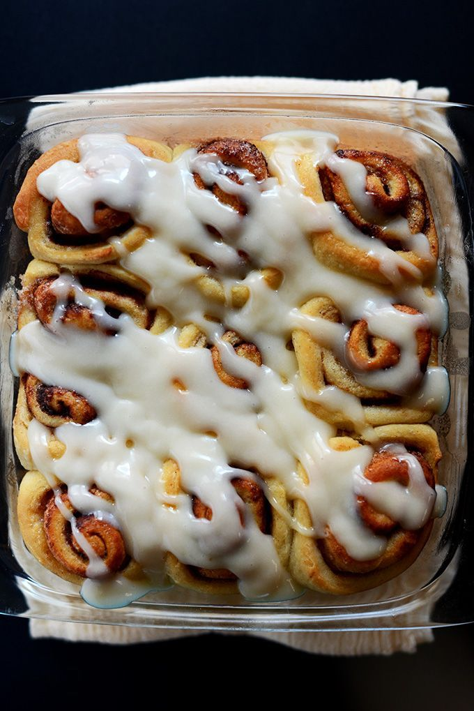 Easy cinnamon rolls with just 7 ingredients and no complicated steps. Just proof, roll out and bake! Plus, they're vegan and SO delicious, fluffy and gooey!