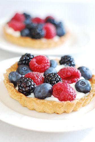 Berry Tartlets with Creamy Kefir Tart Filling by JuliasAlbum.com, via Flickr