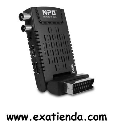 Ya disponible Sintonizador NPG tdt hd mini dht 18m hdmi/mkv/h264    (por sólo 37.99 € IVA incluído):   - Mini DHT 18M Mini DHT 18M Mini DHT 18M - Actualiza tu televisor a la TDT de Alta Definición con este compacto sintonizador que servirá además para reproducir tus archivos multimedia y ver tus películas, fotos y escuchar tu música favorita a través del televisor..  - Sintonizador / Grabador de TDT de Alta Definición. - Graba tus programas favoritos a través del