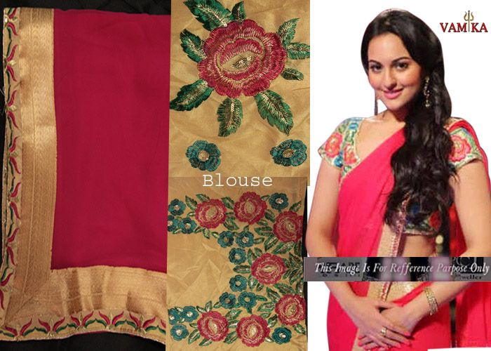 Sonakshi Sinha Pink Saree At Star Award By Vamika-Sarees-Vamika