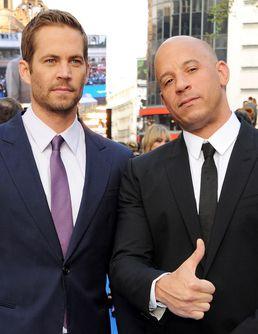 """Vin Diesel, ému, rend hommage à Paul Walker lors d'une projection de """"Fast and Furious 7"""""""