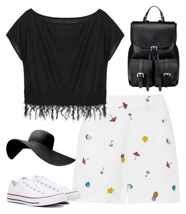 """sunnyday"" by roselie1405x on Polyvore featuring Converse and Aspinal of London"