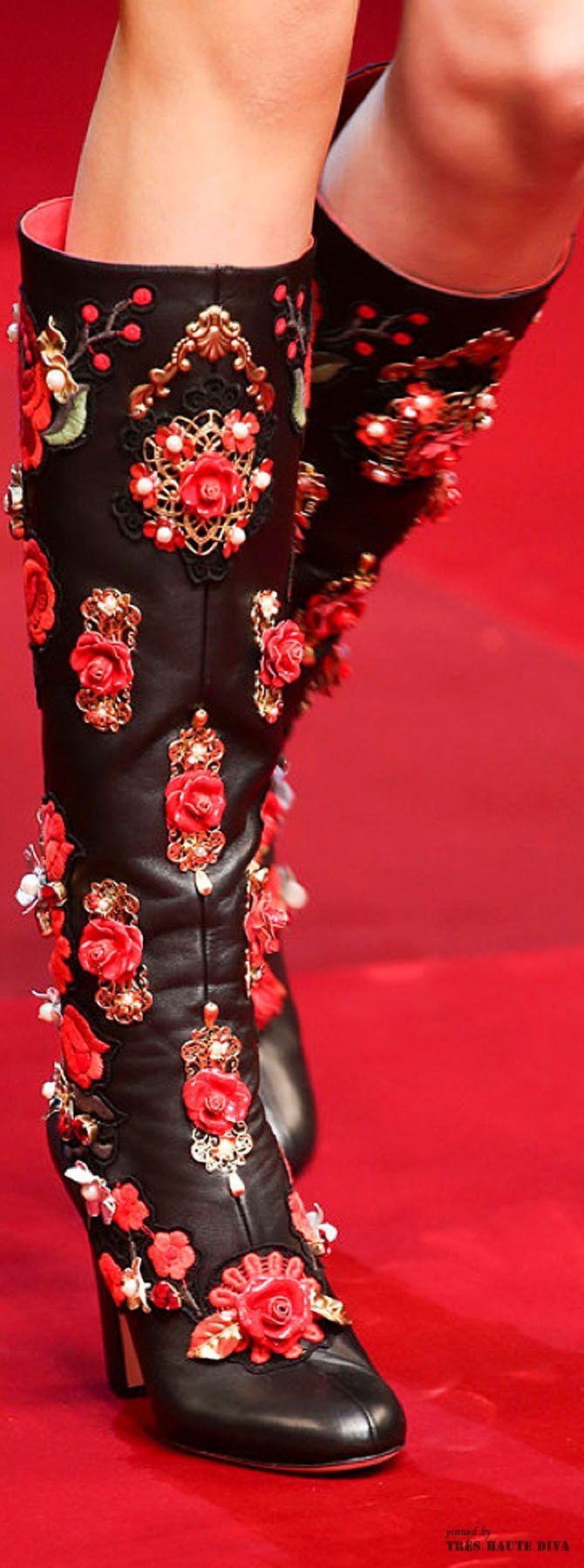Tendance Chaussures   Dolce & Gabbana SS 2015  detail