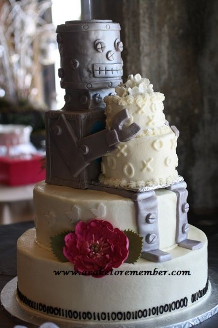 1000 Images About Robot Cake On Pinterest