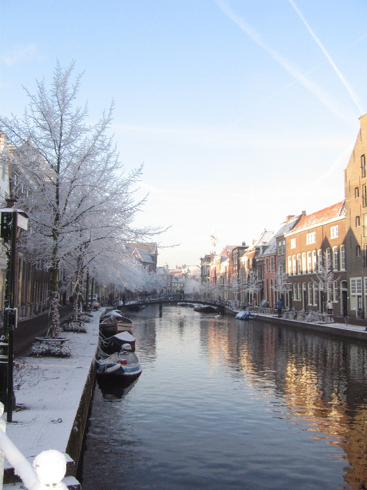 Leiden in winter, the Netherlands