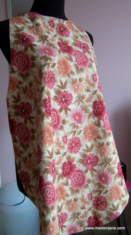 Adult Bib Apron - How to make an apron for seniors.