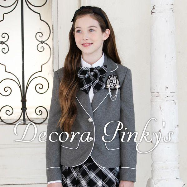 卒業スーツ5点セット 卒業式 スーツ 女の子 DECORA PINKY'S デコラピンキーズ 子供服 150・160・165 卒園式服 小学校卒業式スーツ ジュニア 卒業式 女児 子供スーツ 卒業式 服装 フォーマル(3028505)