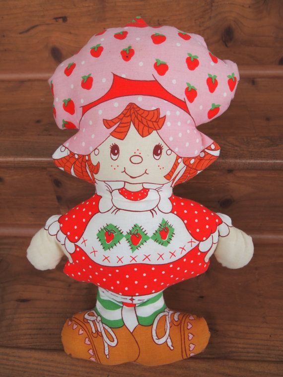 1980's Strawberry Shortcake Pillow Doll This was in the collection growing up... might actually still have it.