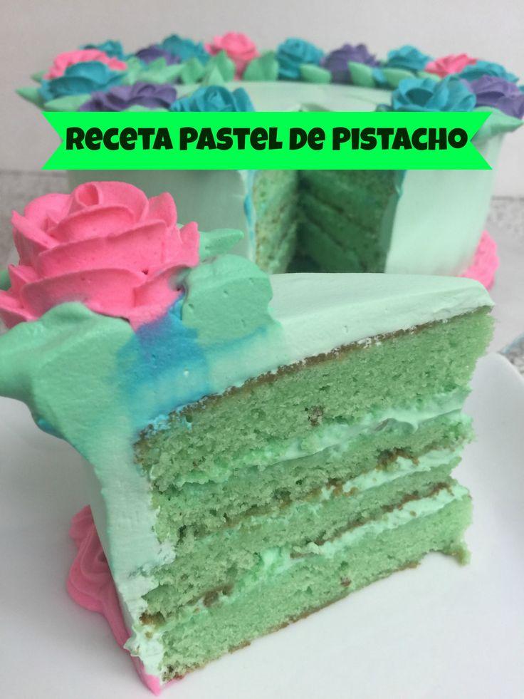 Receta Pastel De Pistacho Con Relleno