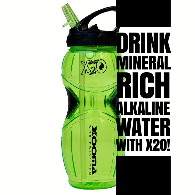 Drink Mineral Rich Alkaline 9.9pH Water with X2O at http://www.BuyX2O.com #Xooma #alkalinewater #phbalance #drinkwater #minerals #alkaline #alkalinity #electrolytes #calcium #magnesium #purifywater #neutralizeschlorine #allnatural #supplements