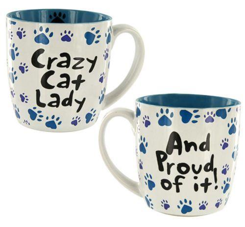 CAT MUG - CRAZY CAT LADY CERAMIC