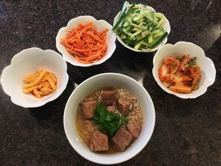 #macros #iifym #dinner #Korean Calories 764 C77 P45 F29 Craving for #galbitang and this has perfect natural taste with ginger. Got my #banchan of #kimchi radish salad, bamboo in chili oil, cucumber and beansprouts salad. Very satisfying and hopefully help my sick husband😩 #iworkouttoeat #foodiseverything #flexibledieting #macrosgirl #myfitnesspal saved me #iifymgirls